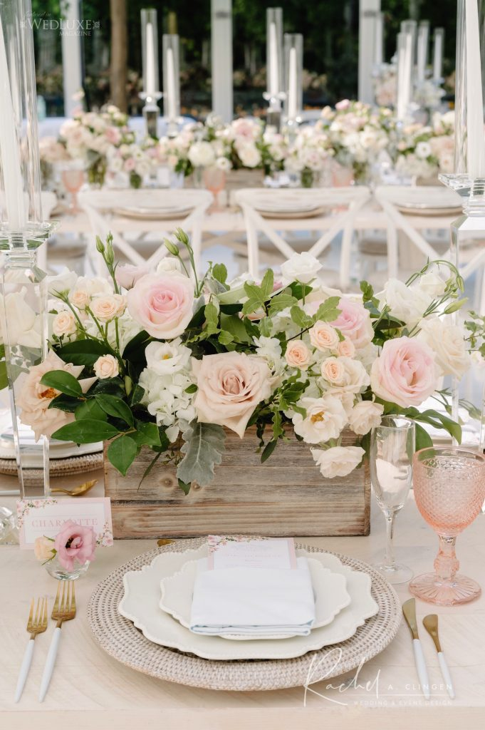 blush pink wedding decor