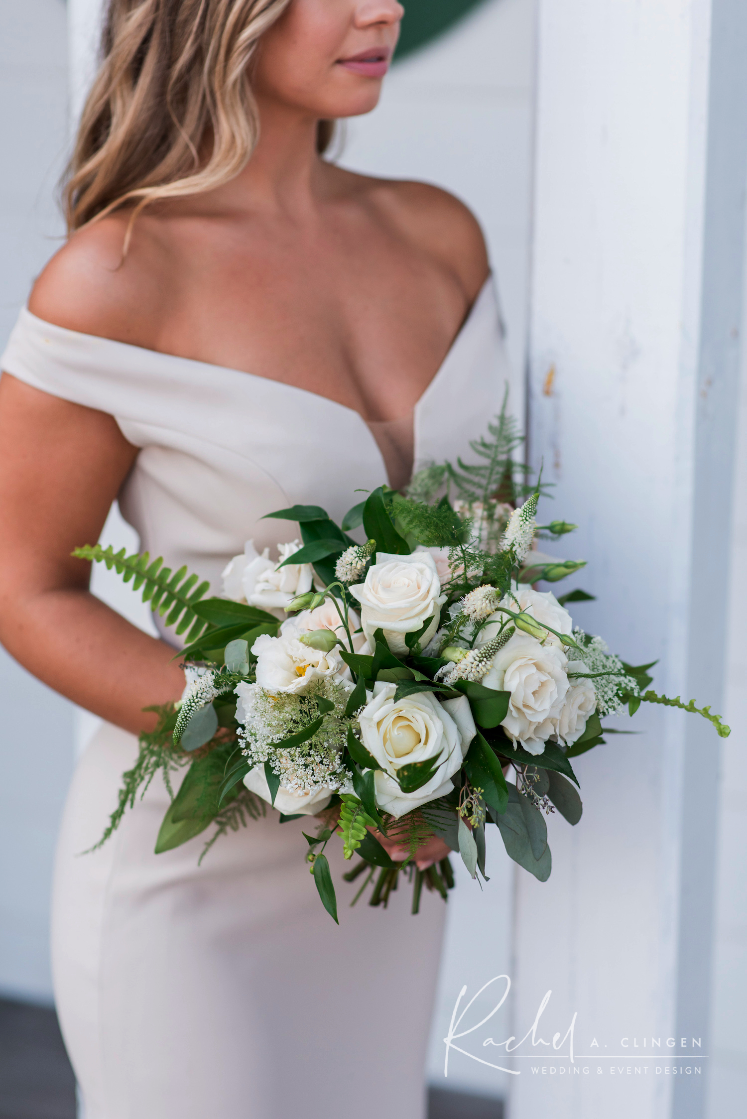 bridesmaid bouquet ivory imp