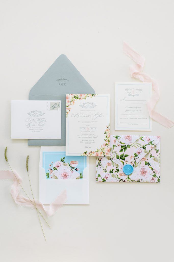 casa loma wedding stationery