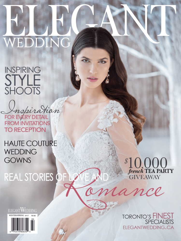 elegant wedding winter spring 2017