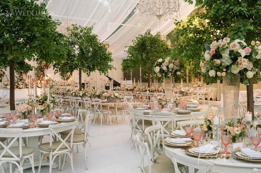 luxury tent wedding casa loma
