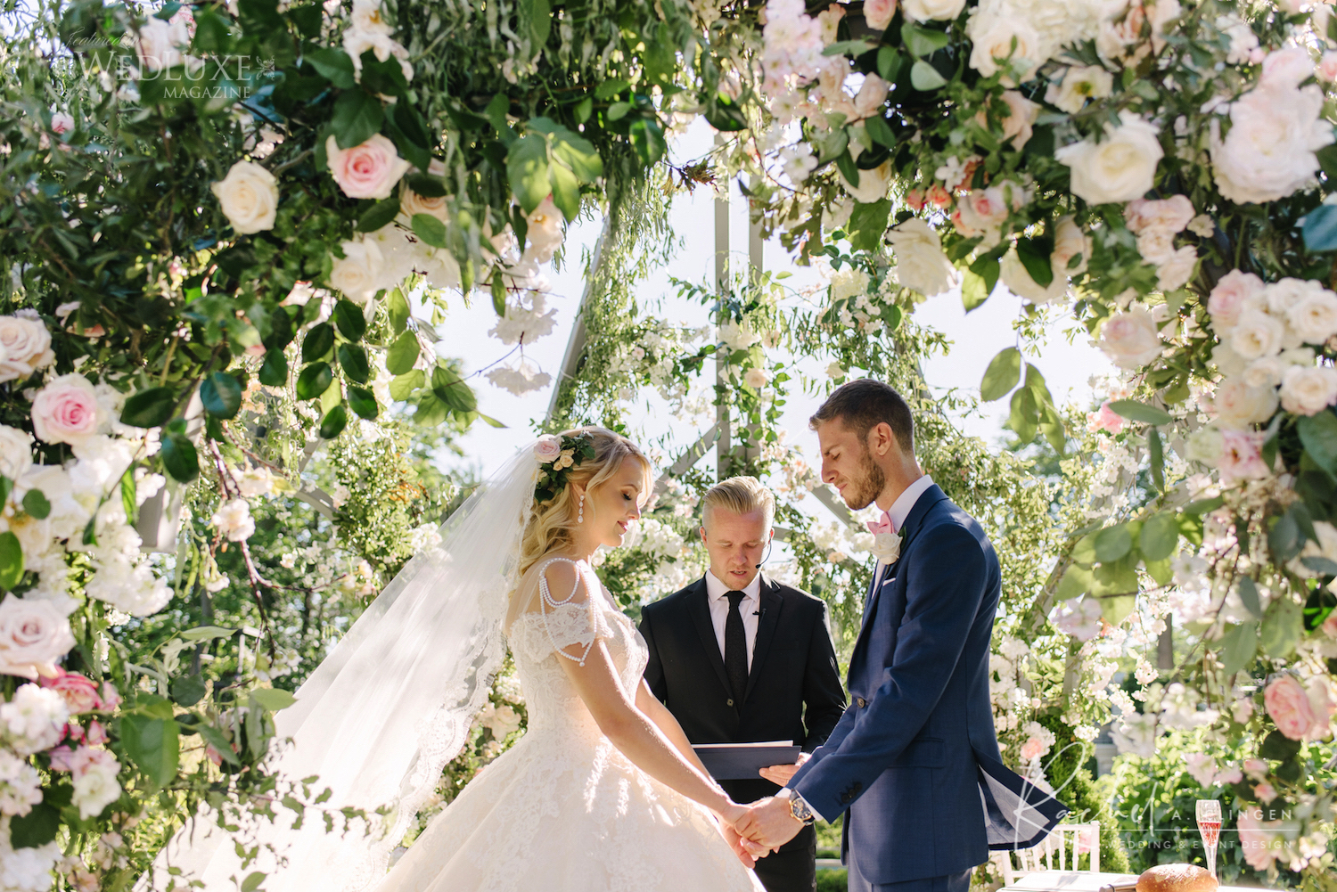 luxury wedding flowers arch