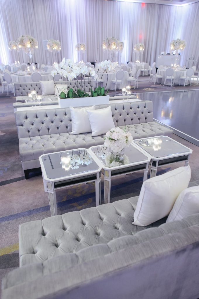 luxury wedding lounge area