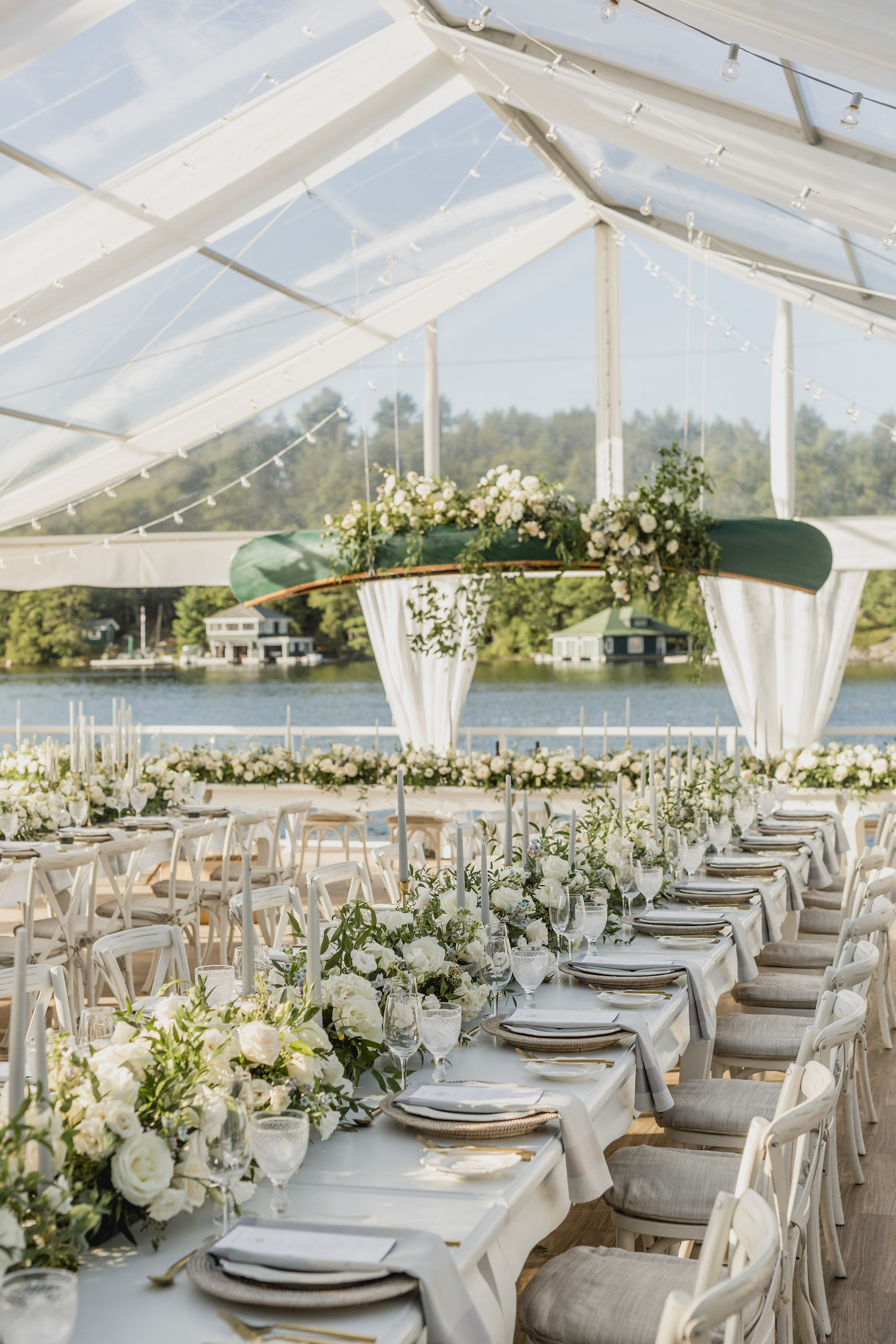 muskoka luxury tent wedding