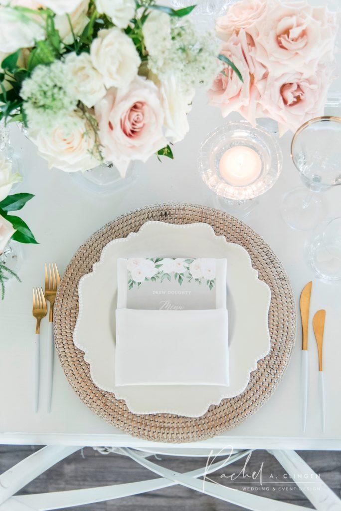 muskoka wedding place setting imp