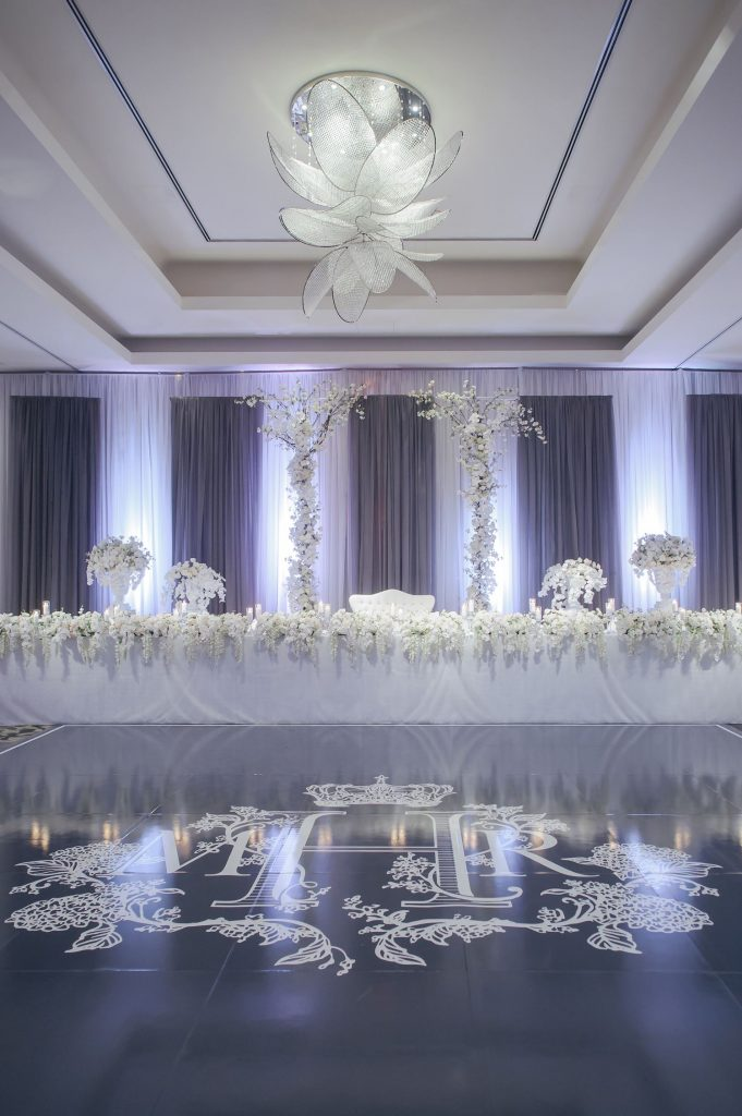 ritz carlton wedding draping
