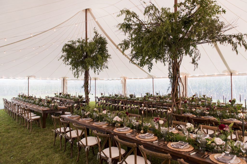 tent wedding design bo ho