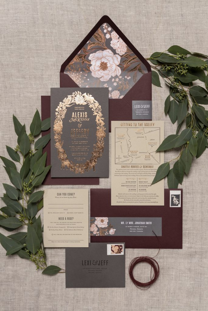toronto wedding stationery