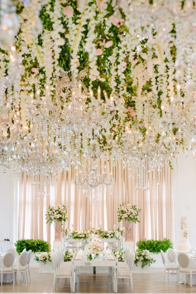 beautiful head table arlington estate wedding