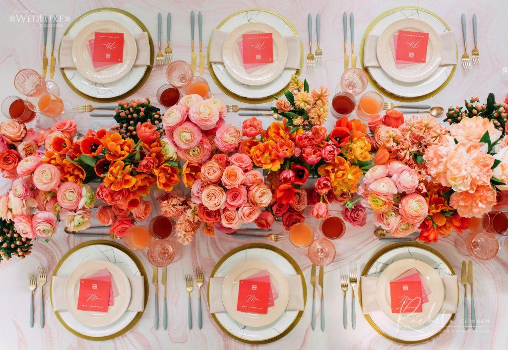 coral pink peach luxury wedding toronto imp