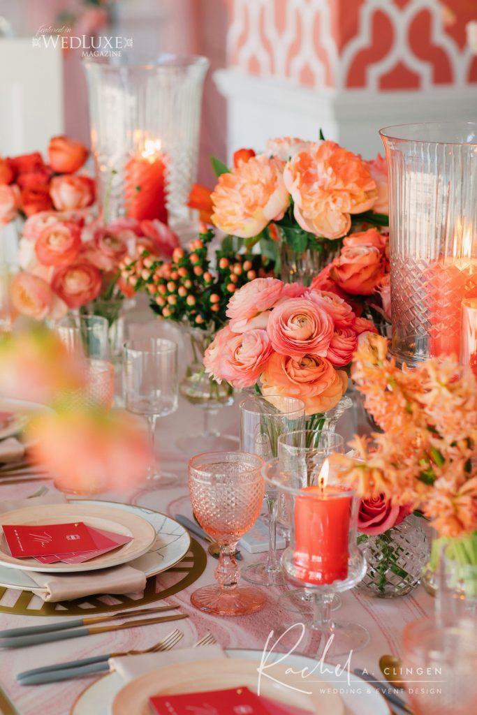 coral pink wedding decor toronto imp