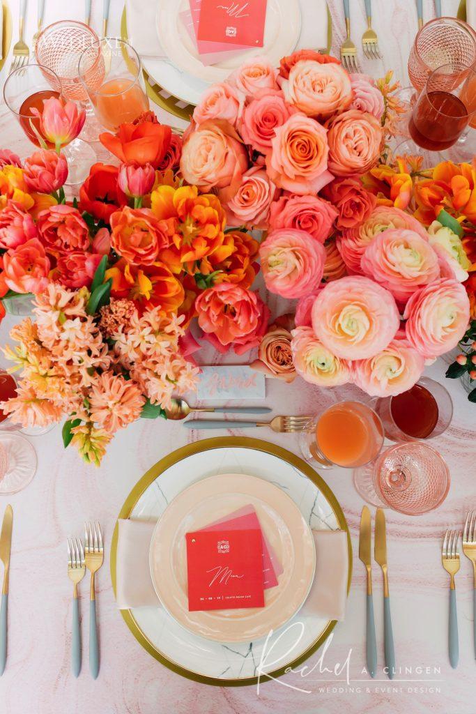 coral pink wedding rachel a clingen imp