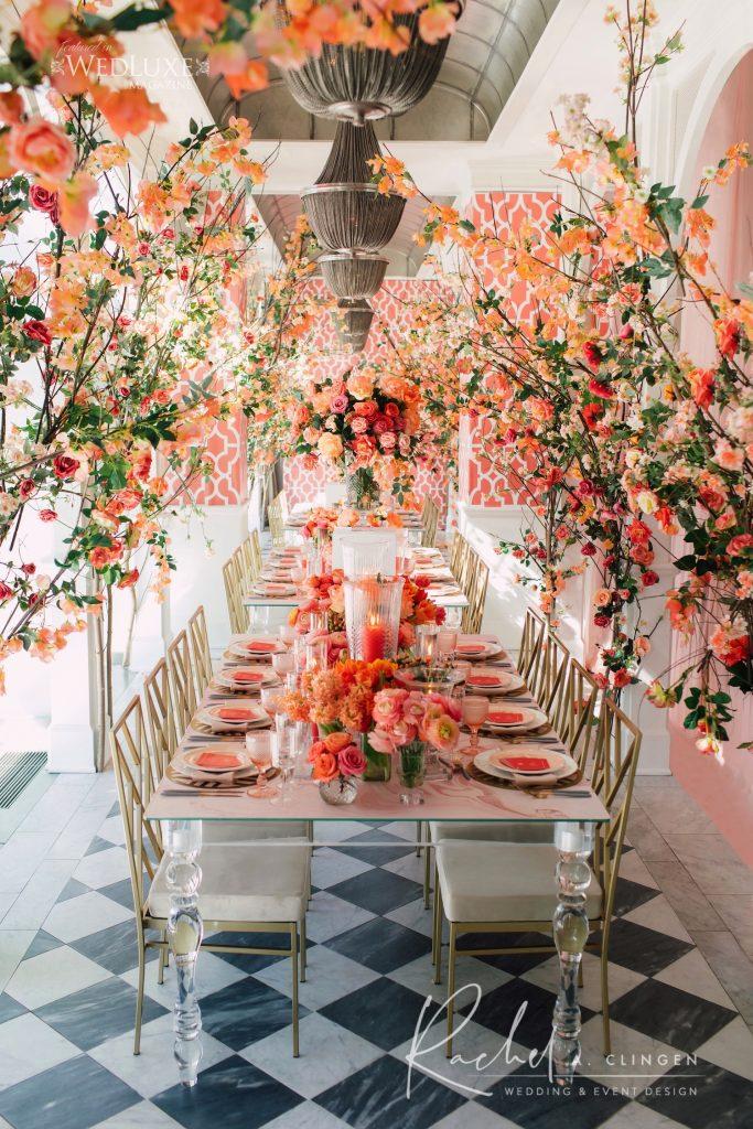 coral wedding bridal shower imp