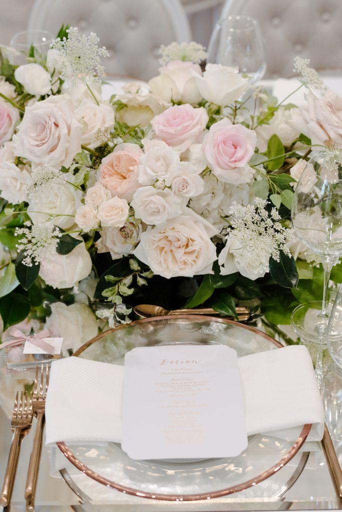 luxury place setting wedding toronto