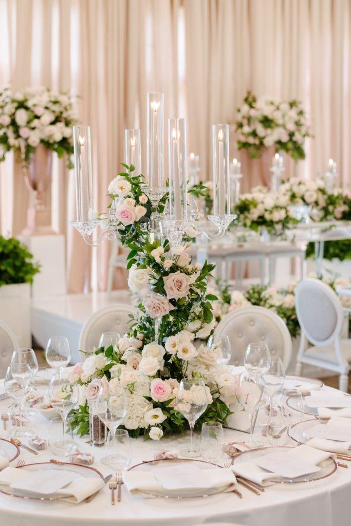 luxury wedding centrepieces candelabra