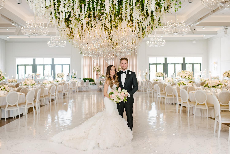 suspended flowers wedding design toronto 1