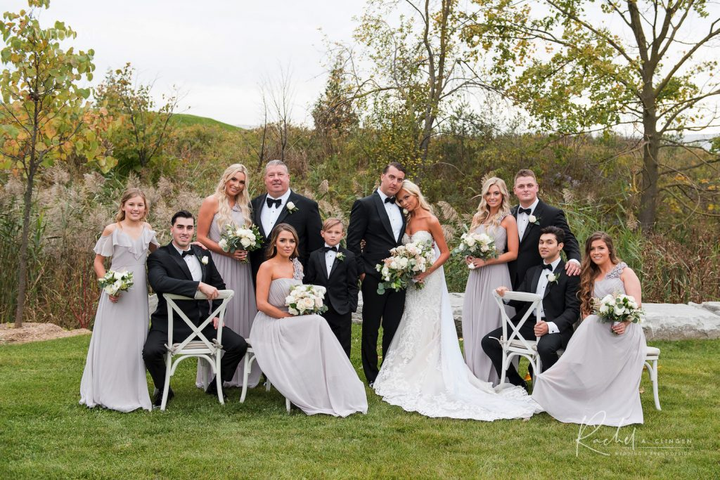 arlington estate wedding bridal party