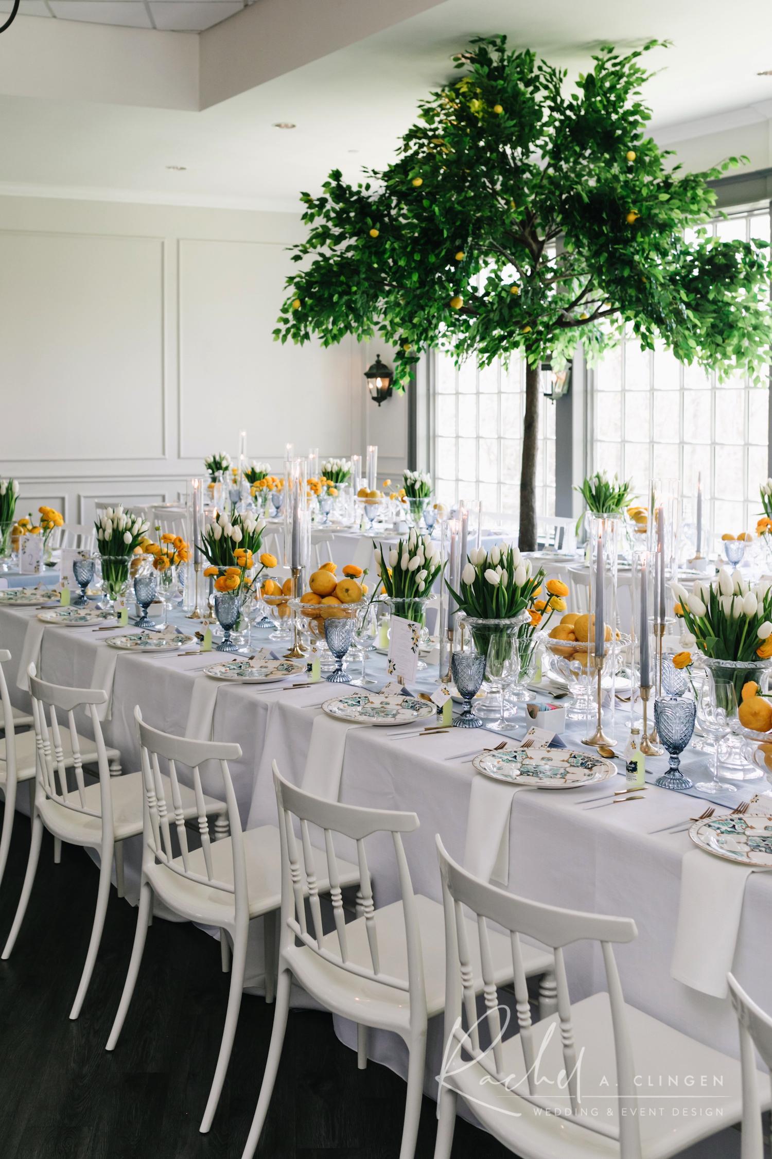 bridal shower lemon trees