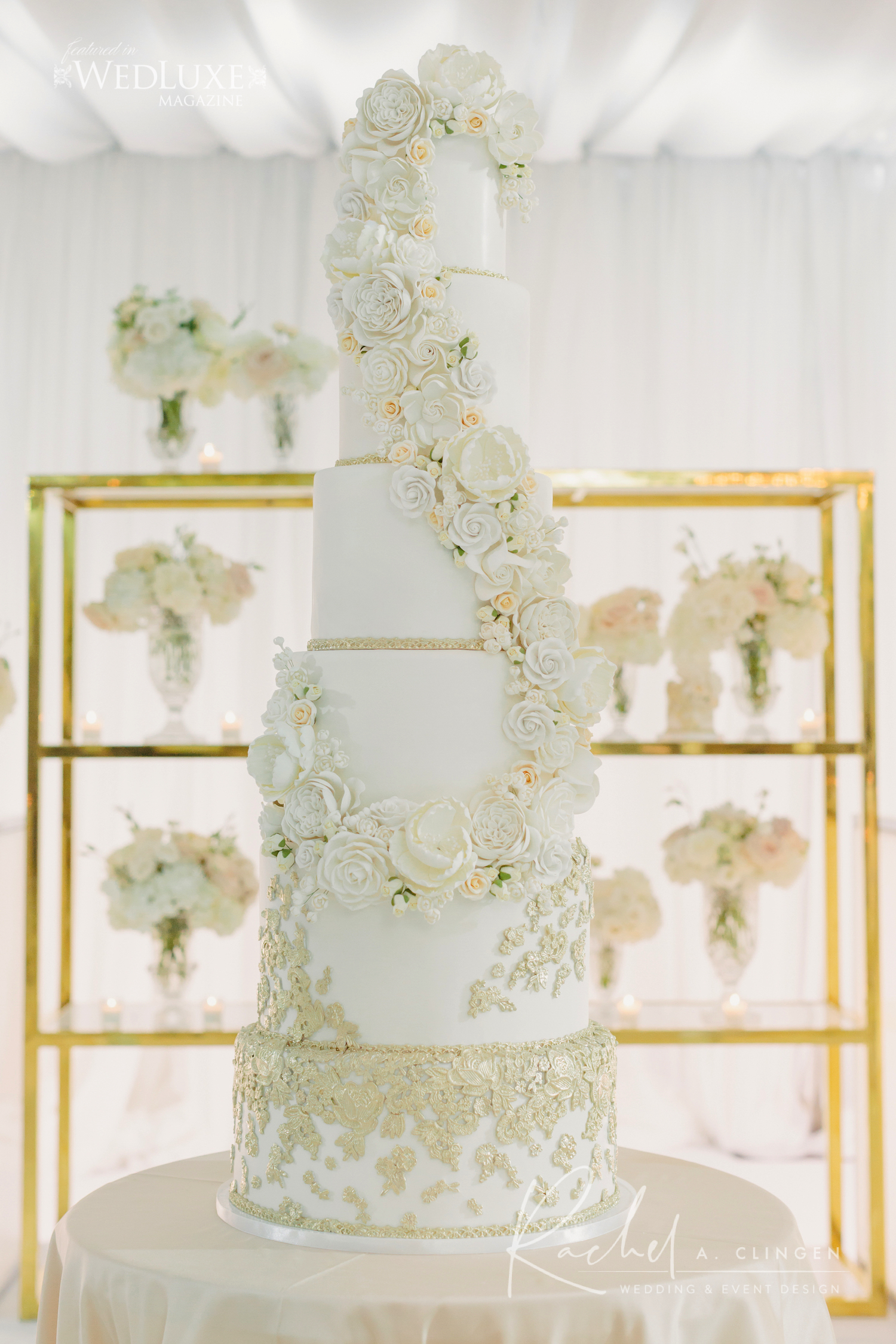 luxury.wedding cake white toronto