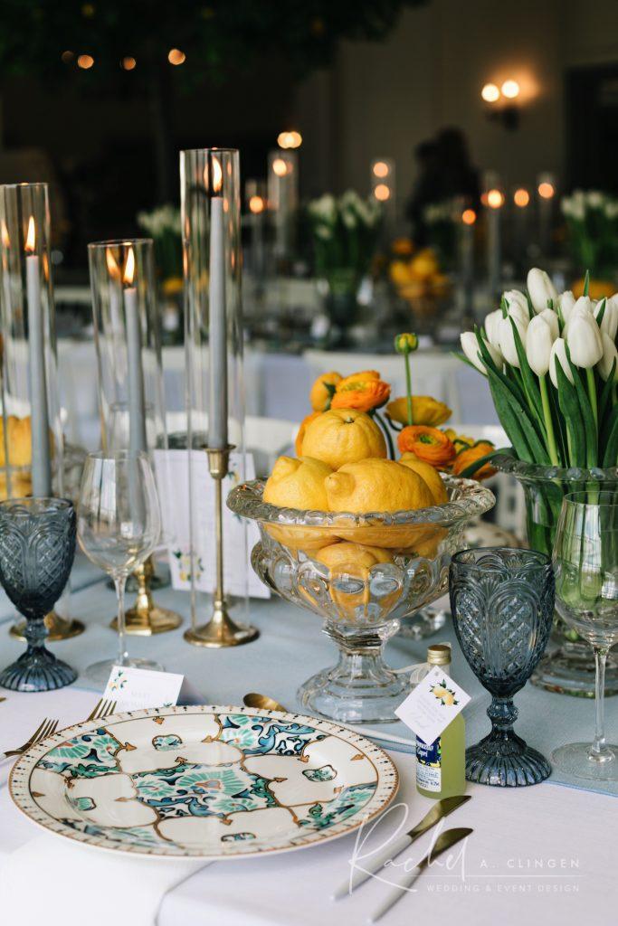 spring bridal shower tulips