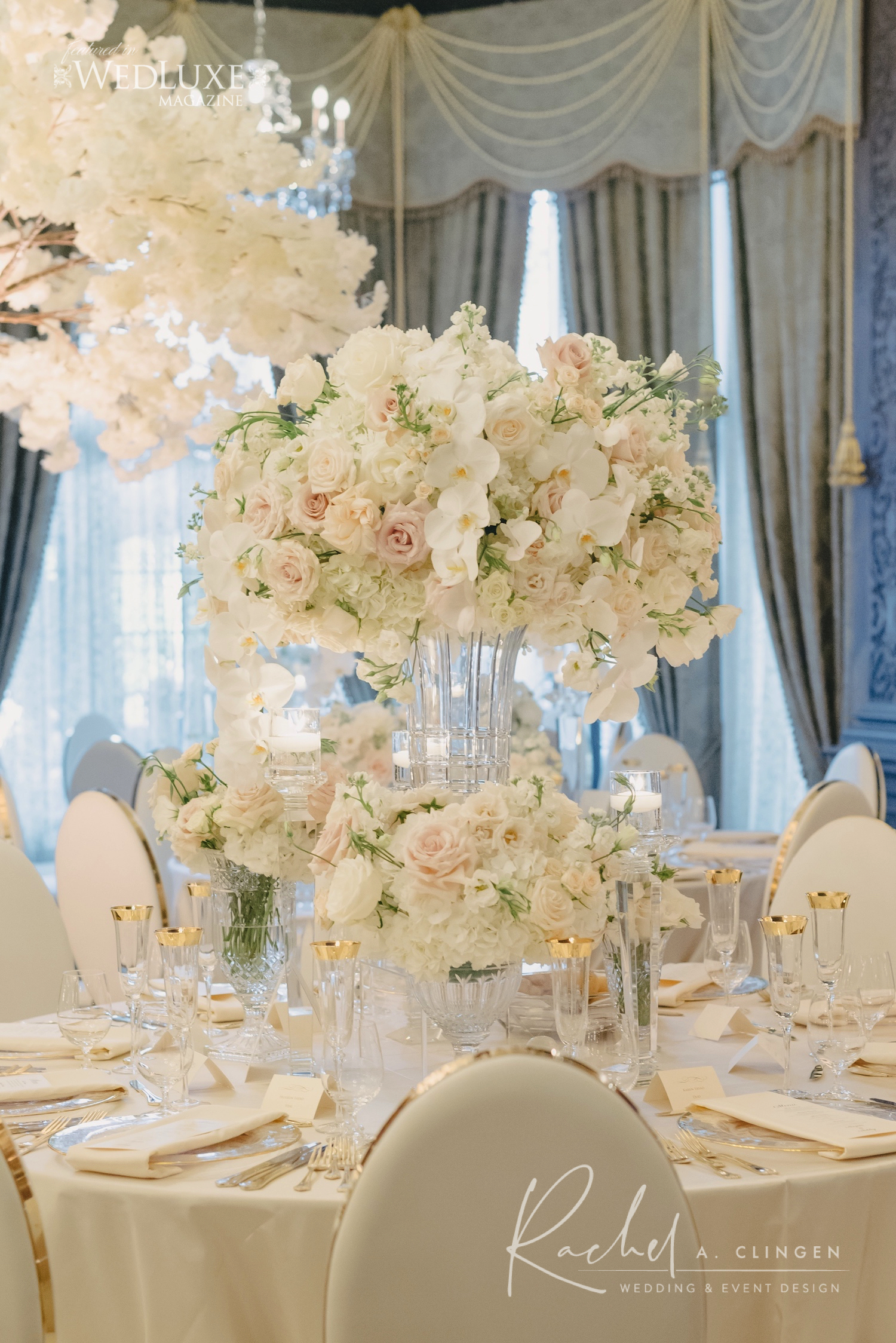 white luxury wedding flowers rachel a clingen