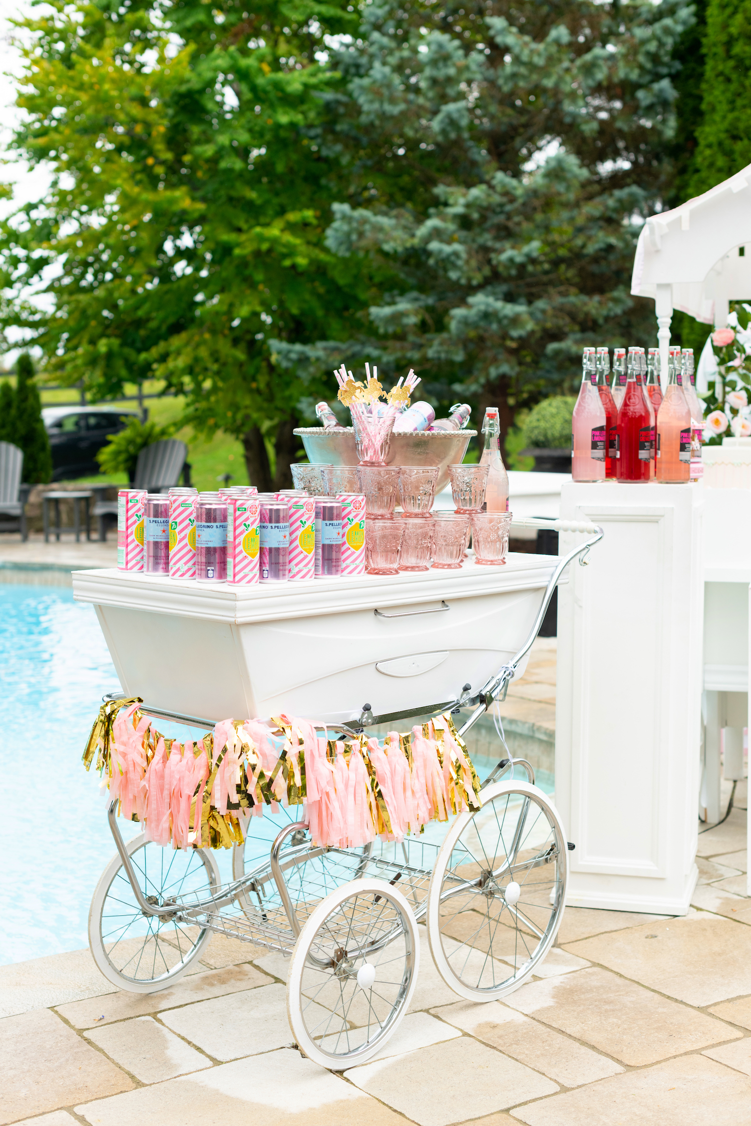 baby shower pram decor