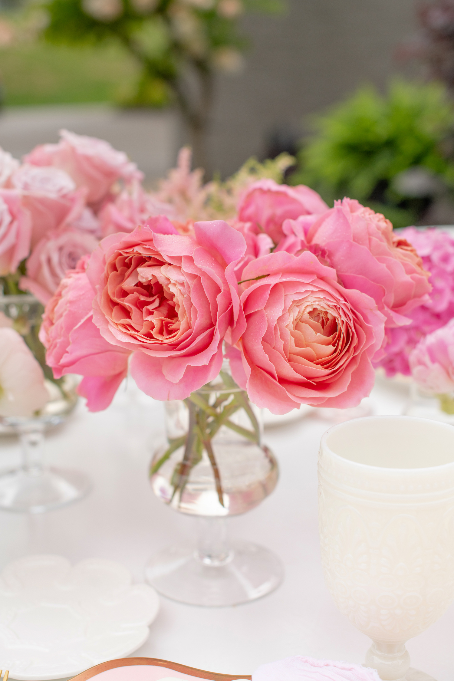 pink roses baby shower