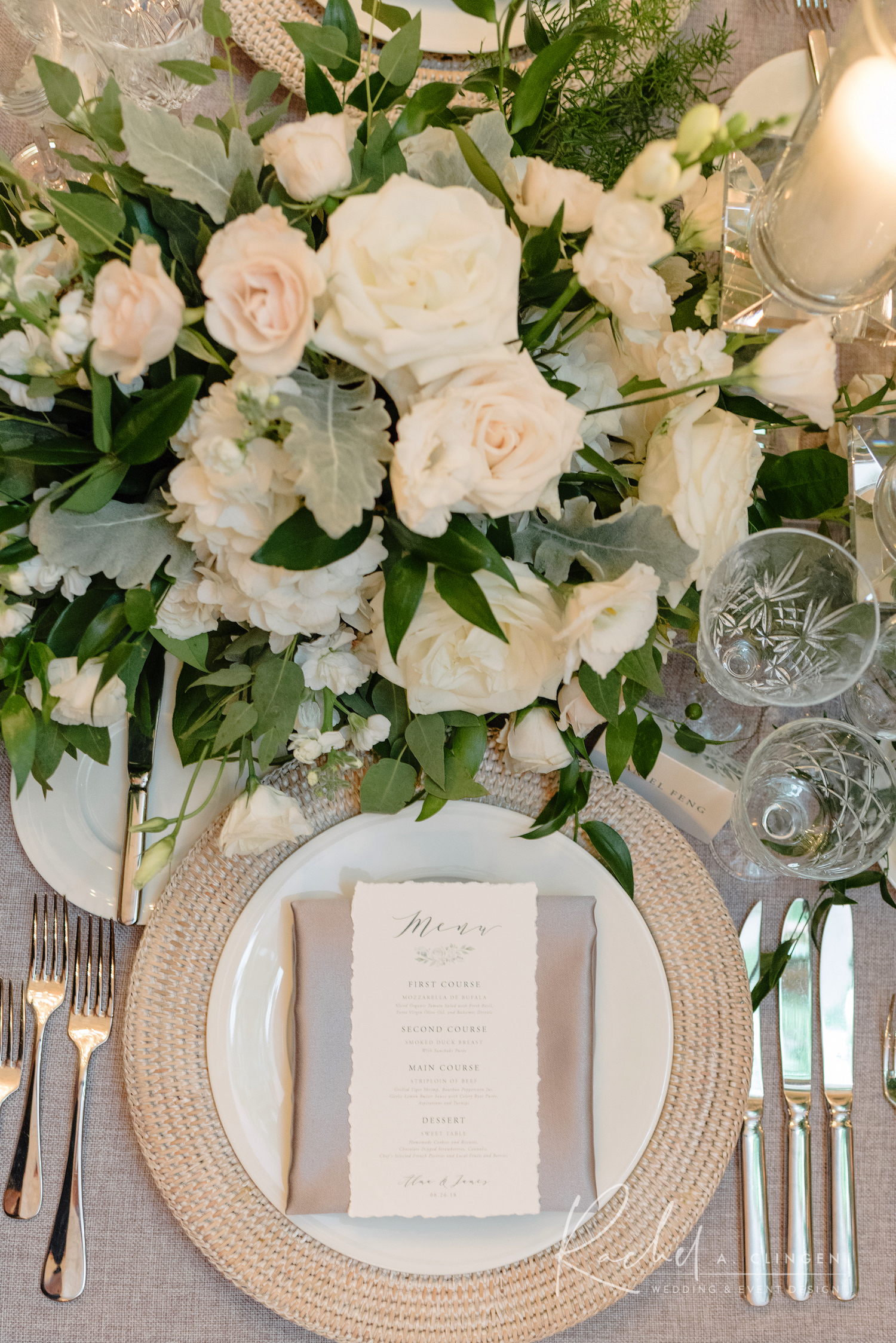 luxury wedding decor placesetting
