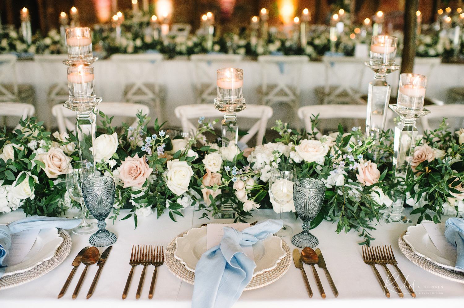 gallery table centrepieces