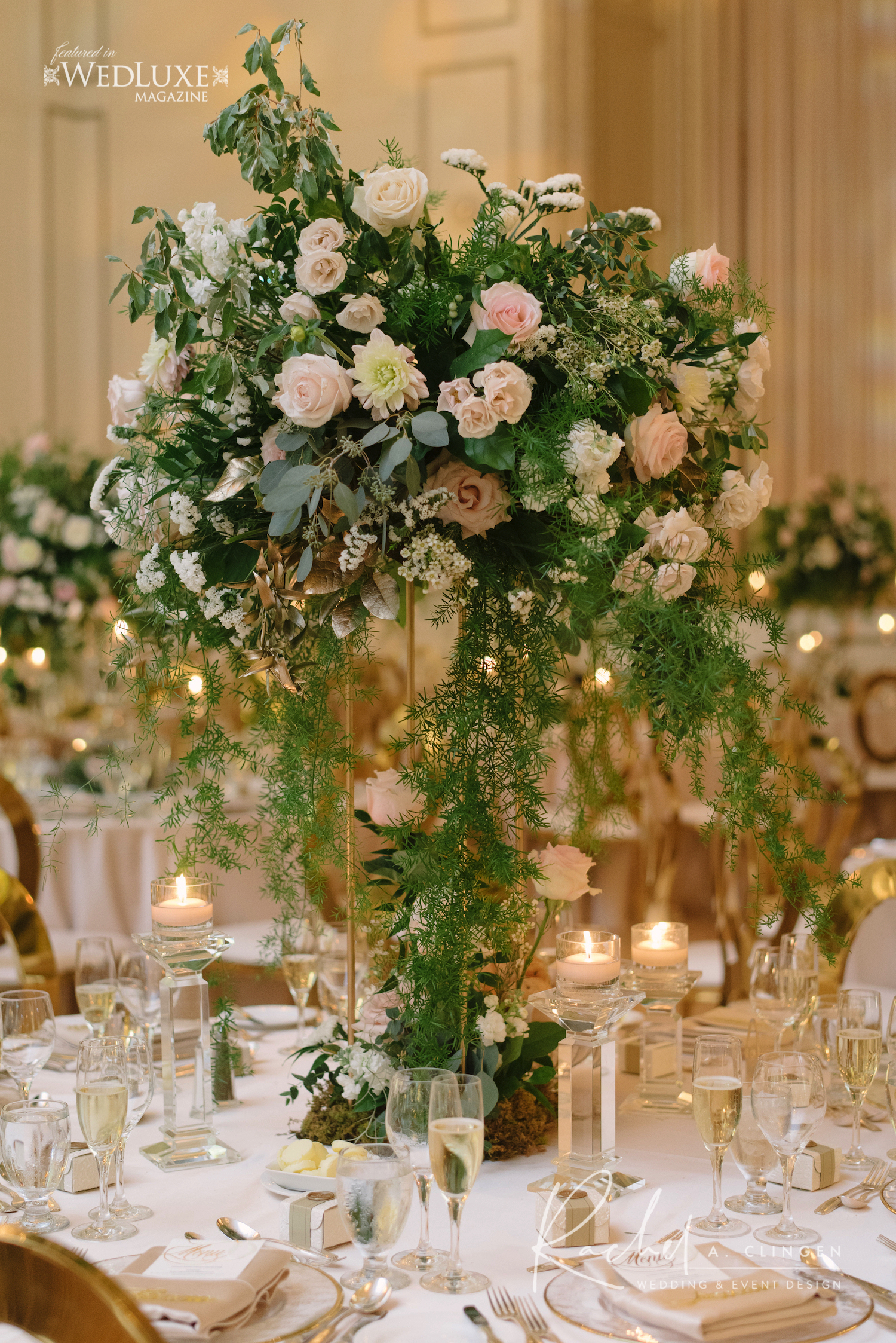 luxury wedding flowers toronto centrepiece 1
