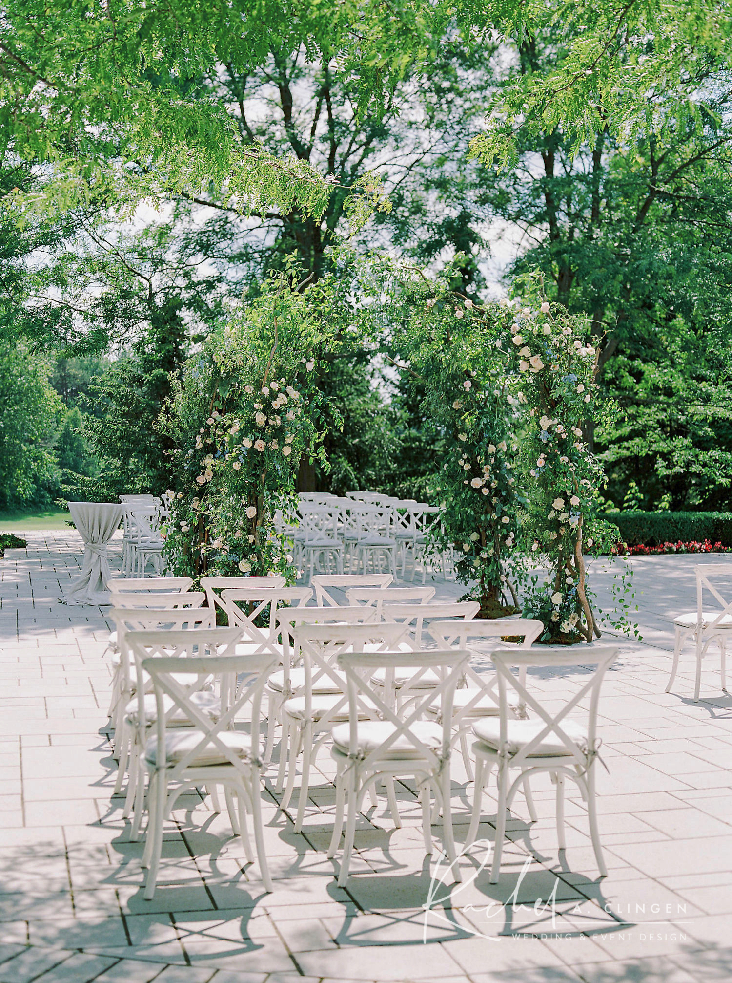 outdoor wedding flowers arch imp