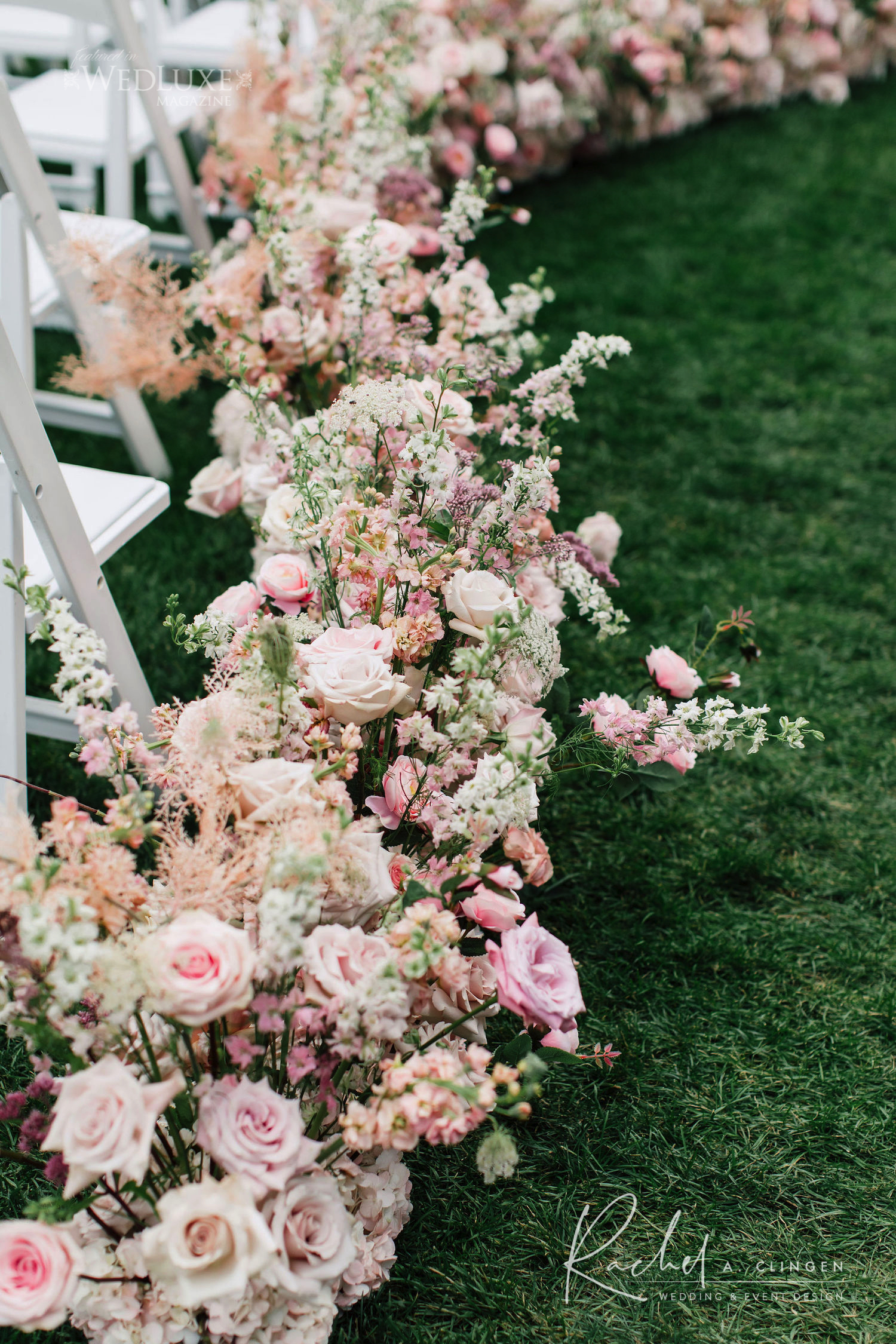 aisle flowers decor