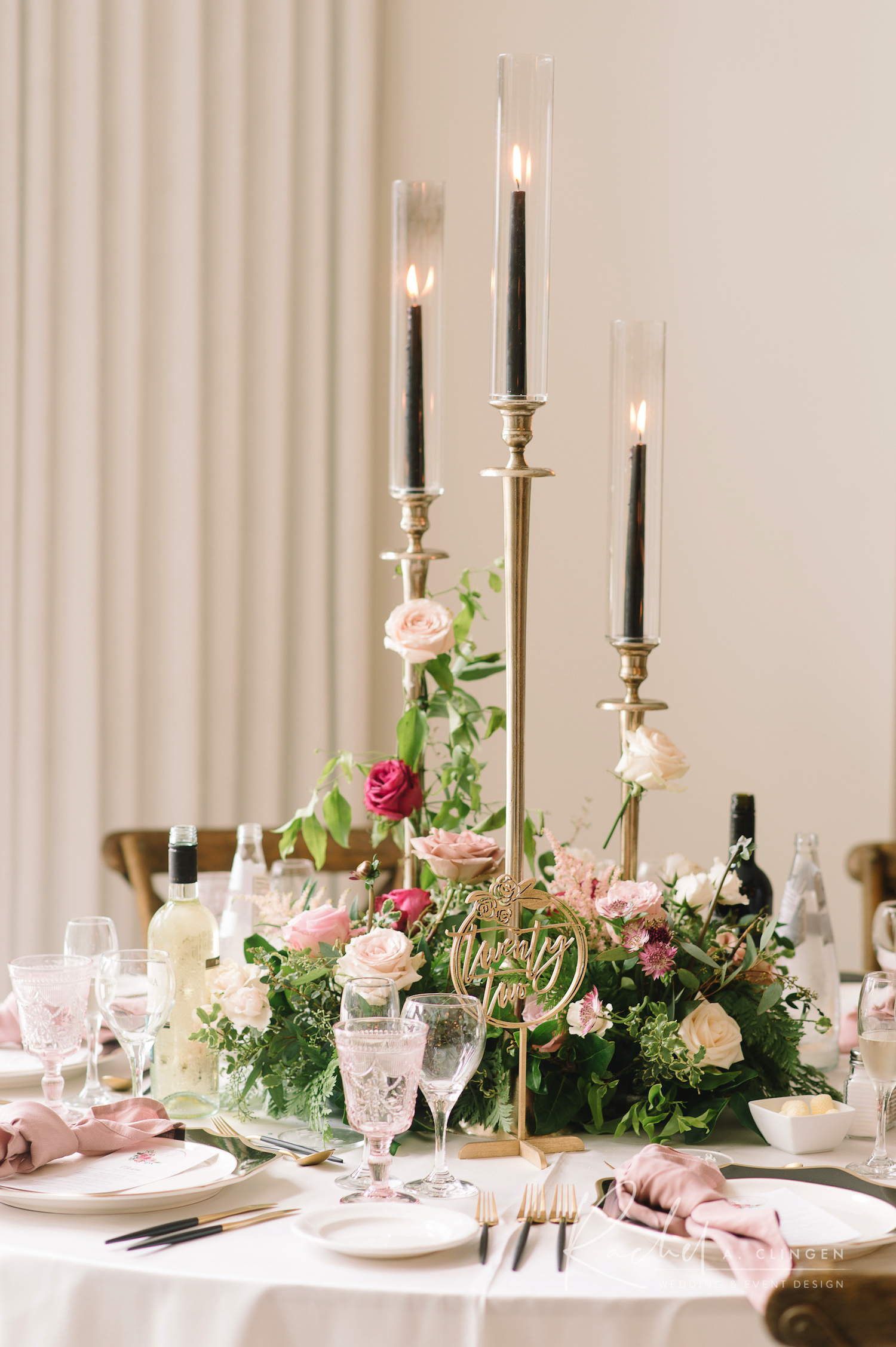 candlestick flowers centrepiece
