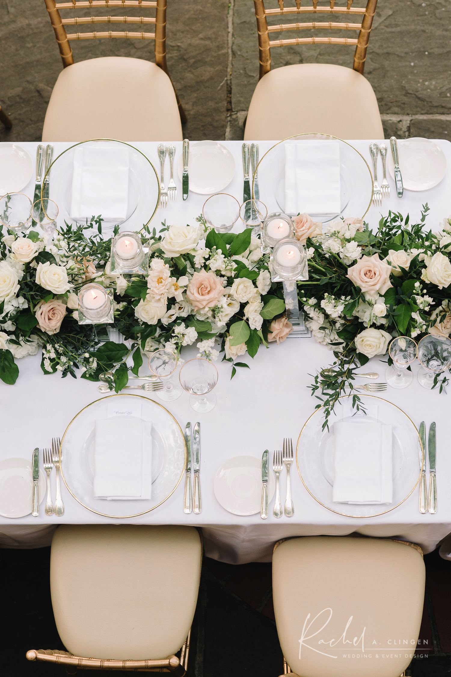ivory cream centrepieces