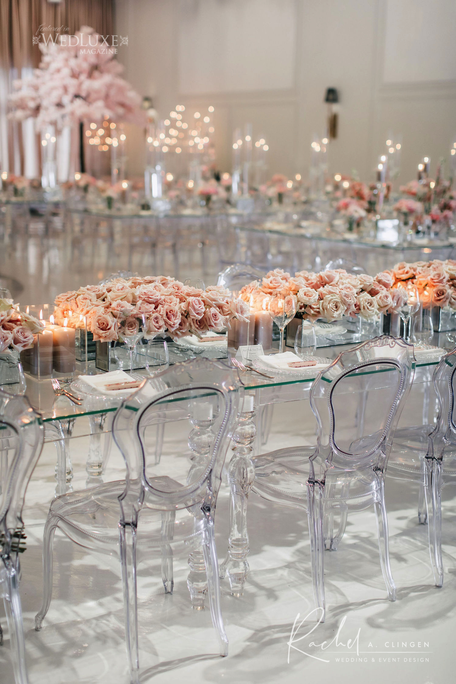 lucite head table design arlington