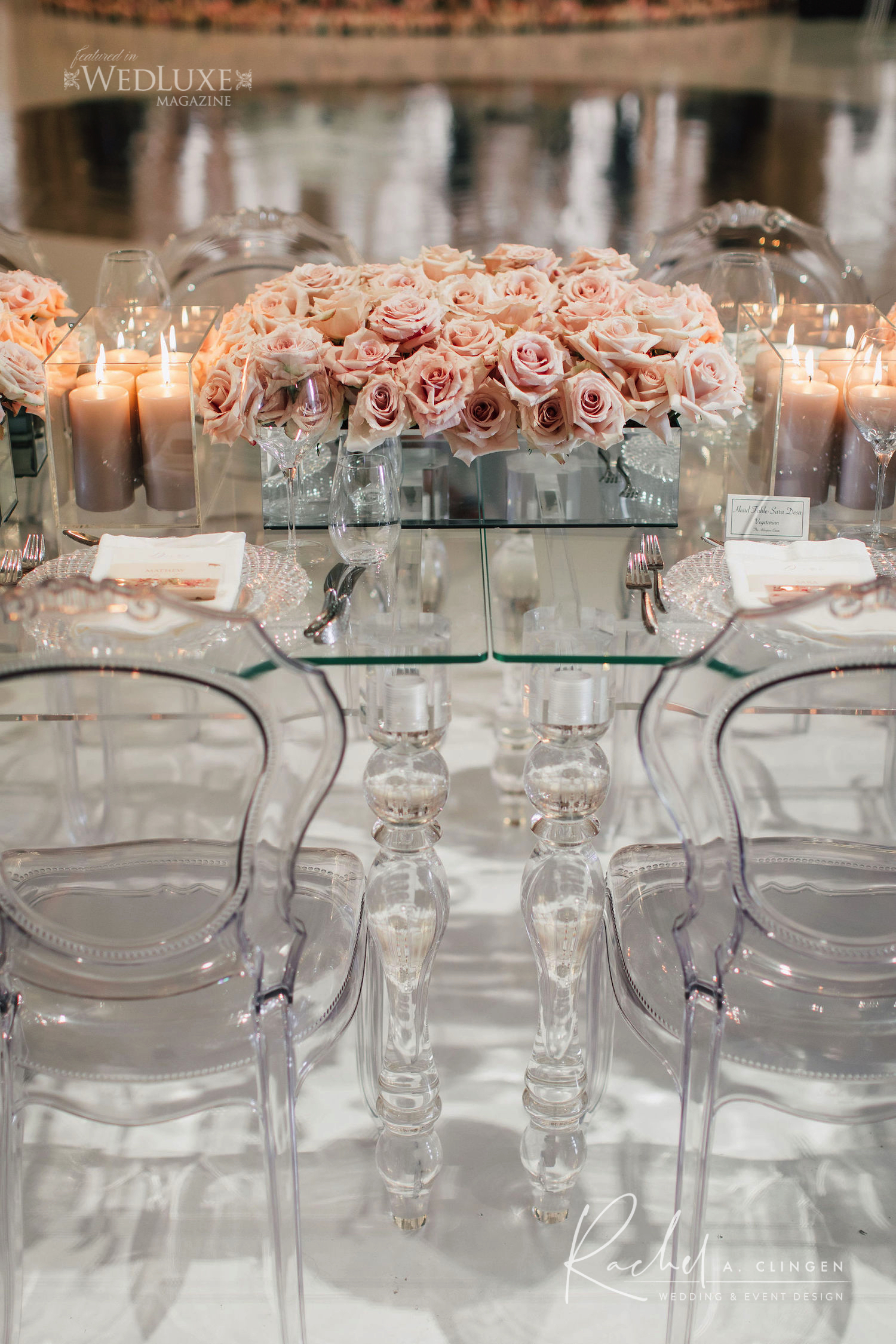 modern pink wedding arlington