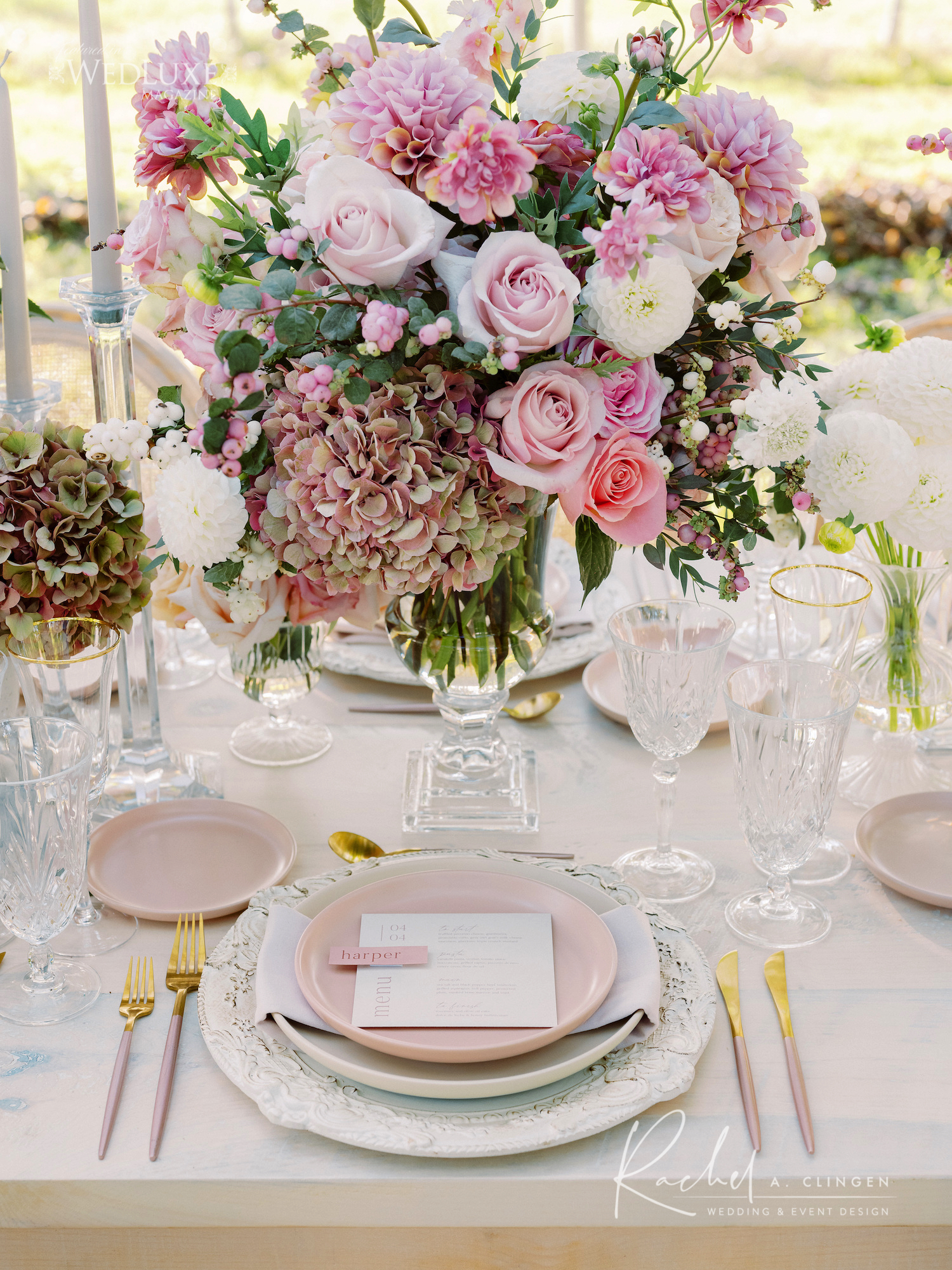 niagara winery wedding pink