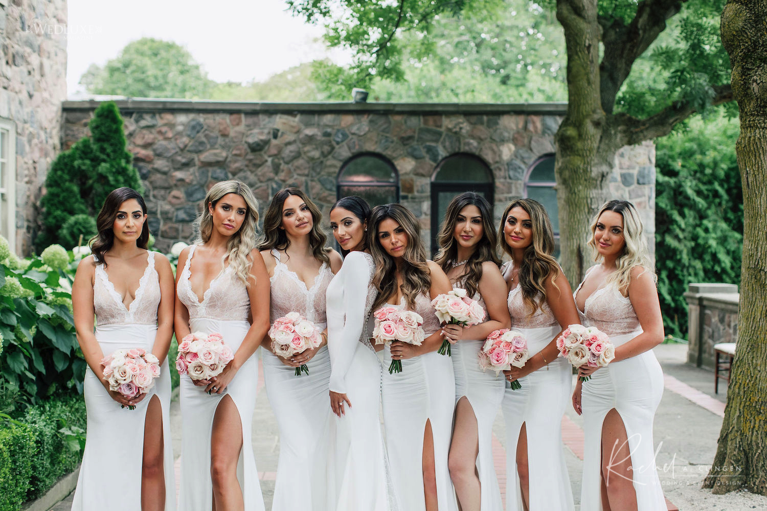 pink blush bridesmaids dresses