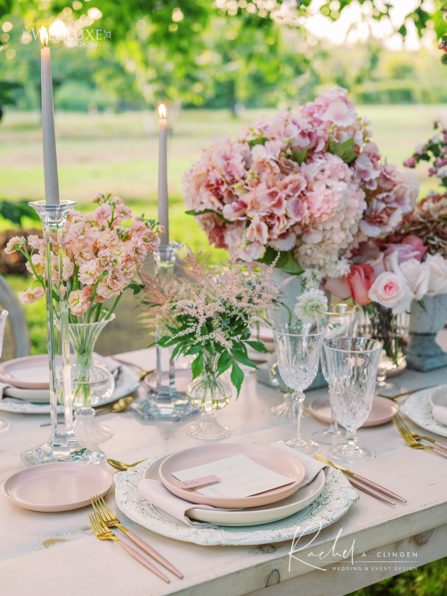 pink orchard wedding
