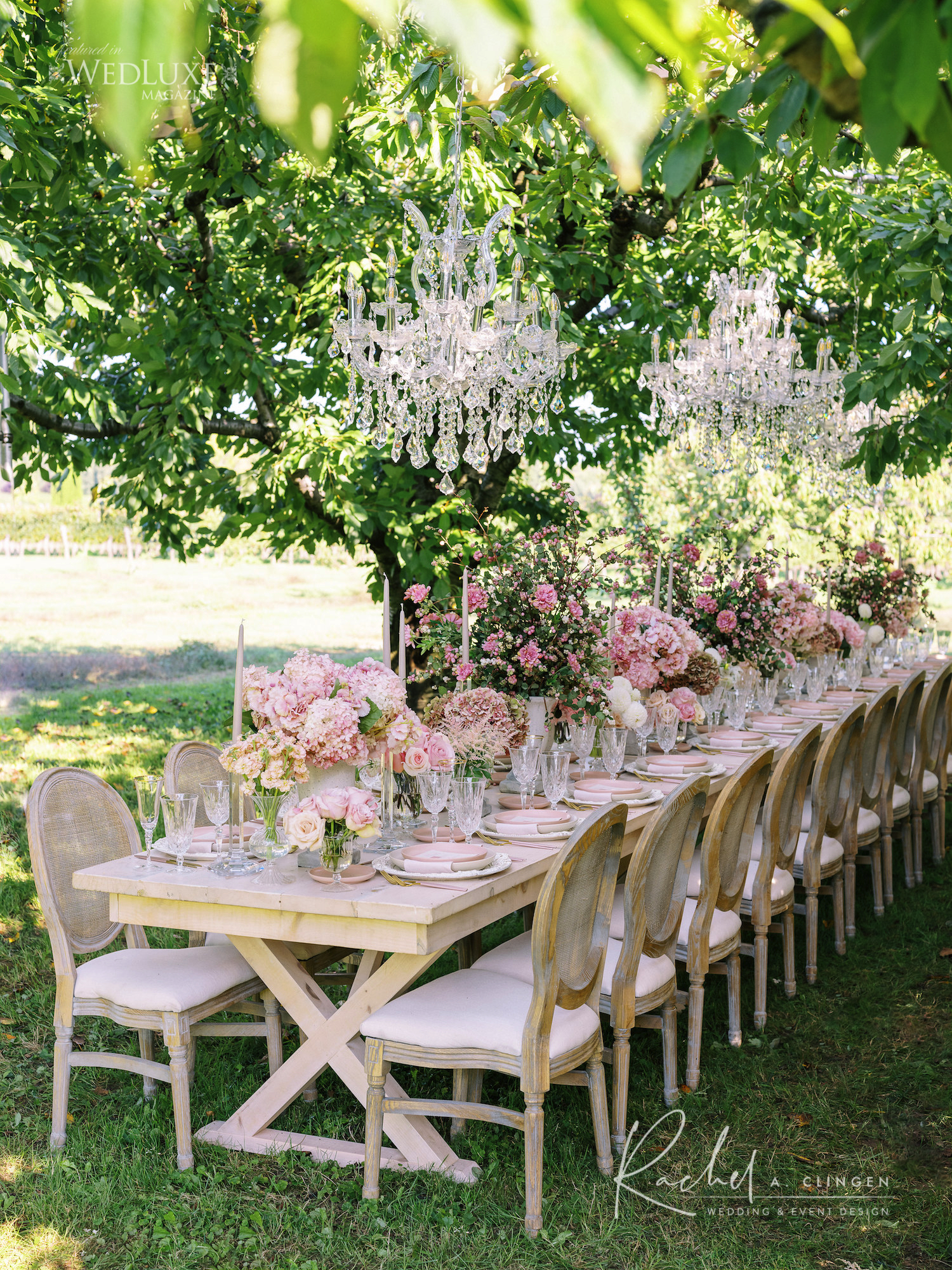 pink rose table scape rachel clingen