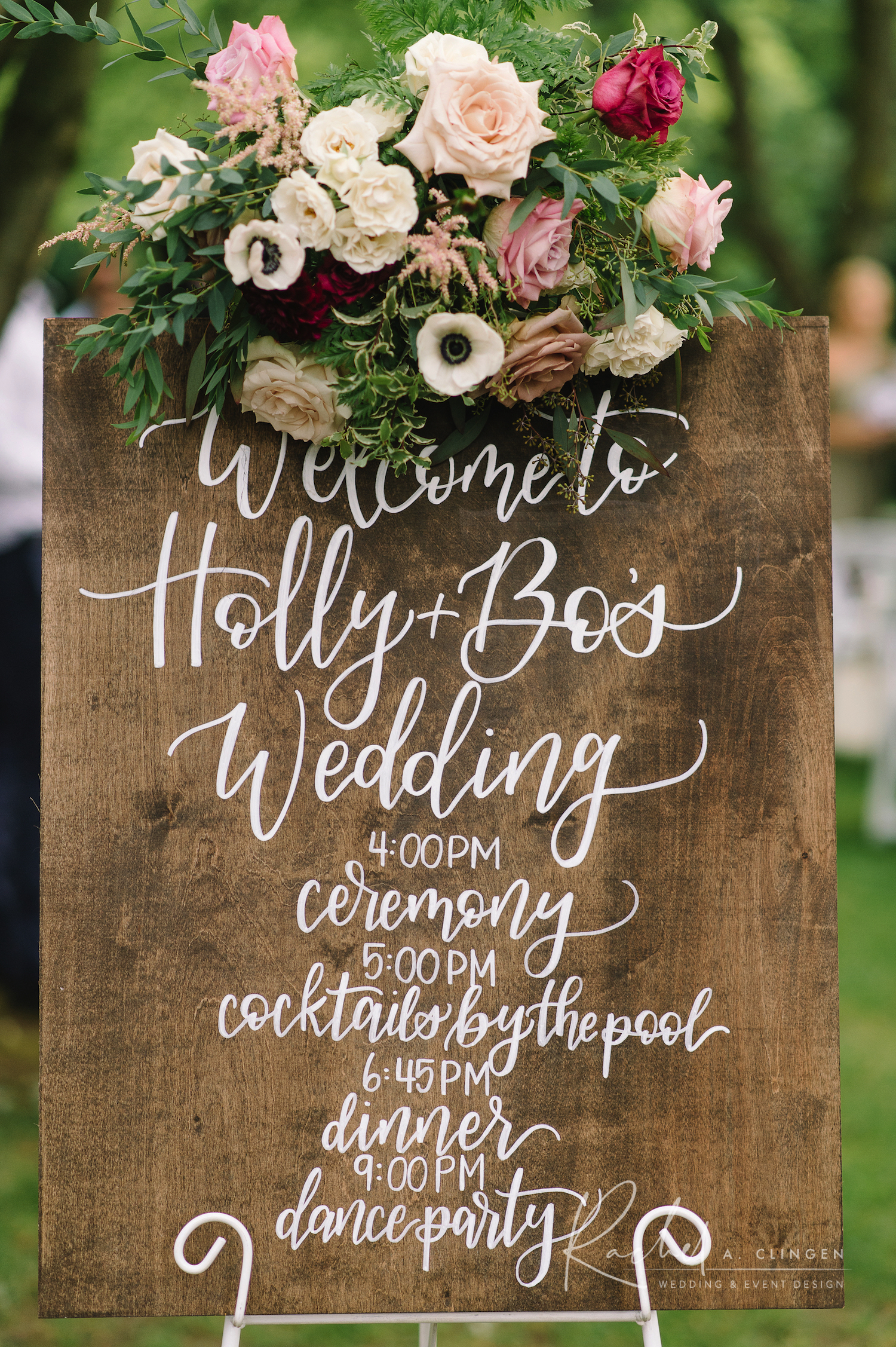 wedding flowers sign
