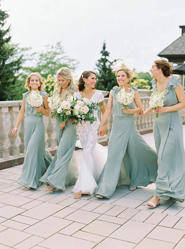 dusty green bridesmaids dresses 1