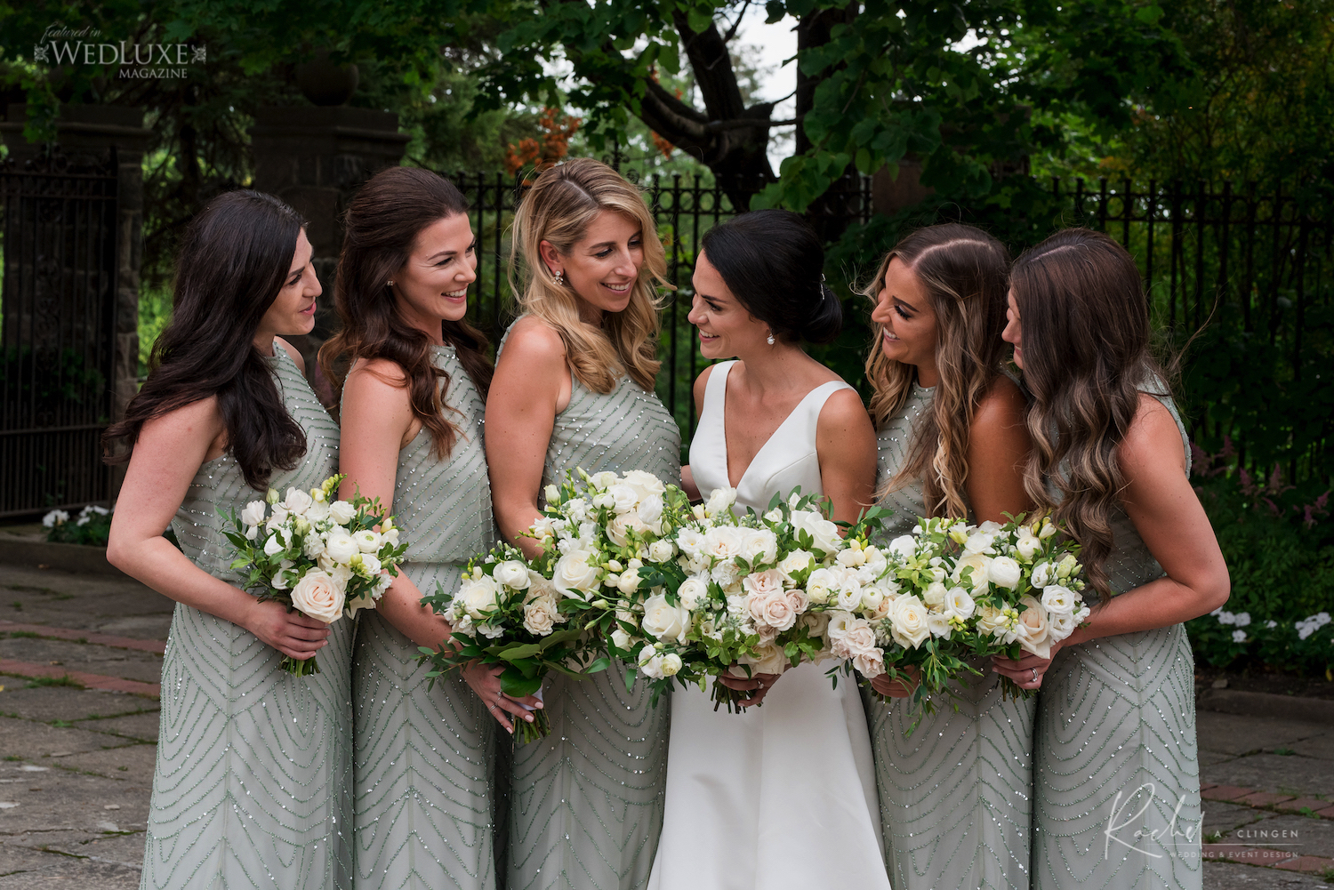 dusty green bridesmaids dresses
