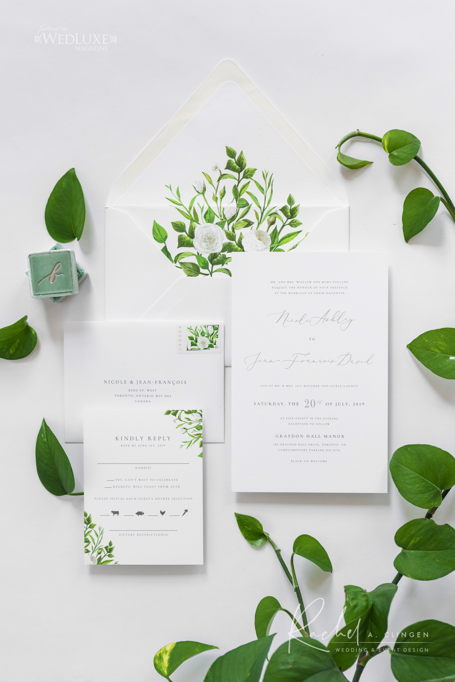 graydon hall wedding stationery