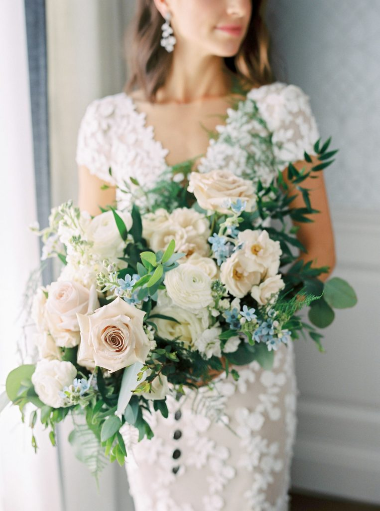 hint of blue wedding bouquet