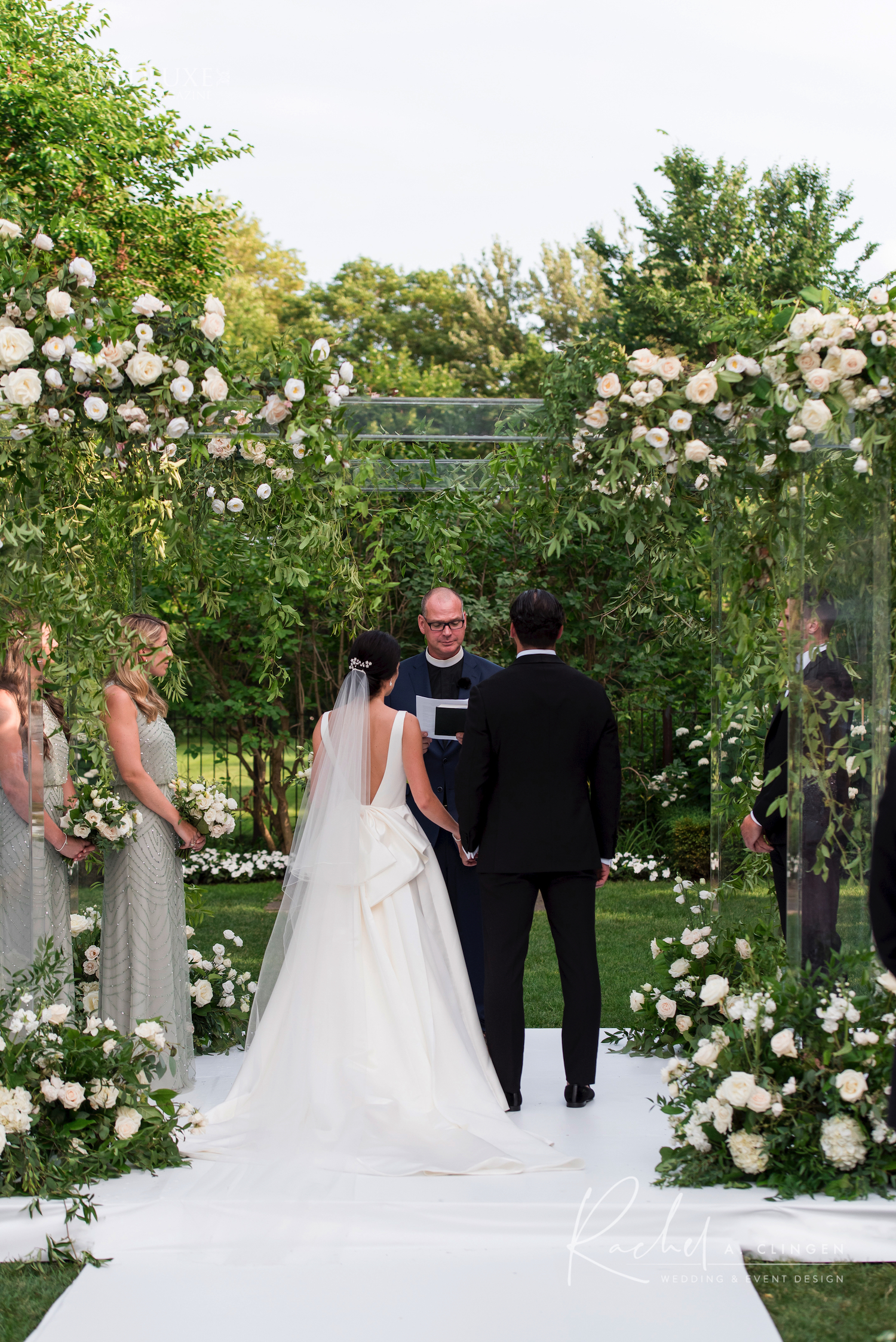 lucite plexi wedding chuppah canopy graydon hall