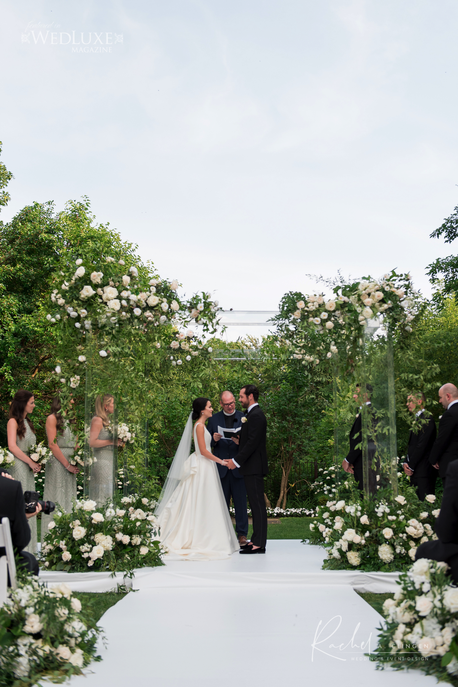 lucite wedding canopy flowers