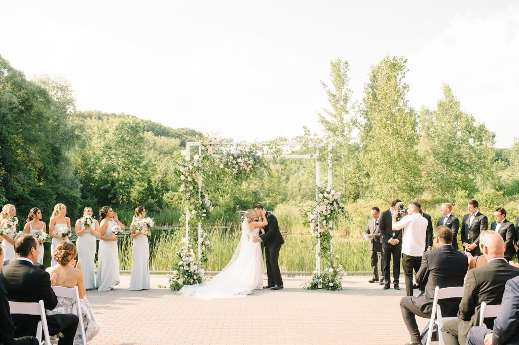 wedding flower arch evergreen brickworks