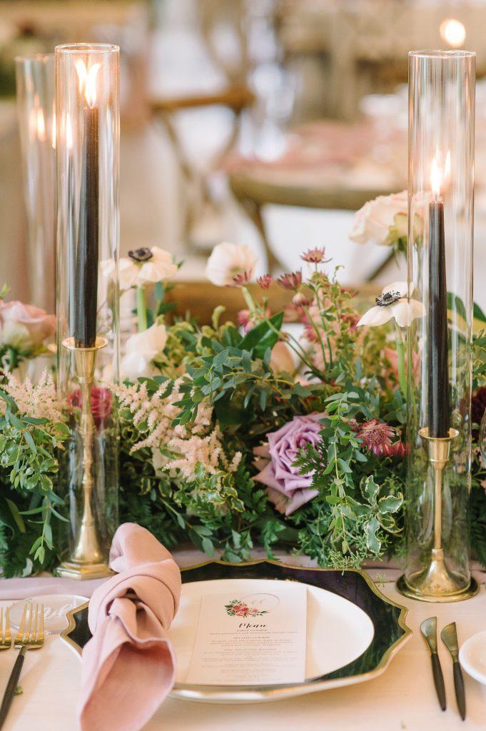 wedding flowers dusty rose