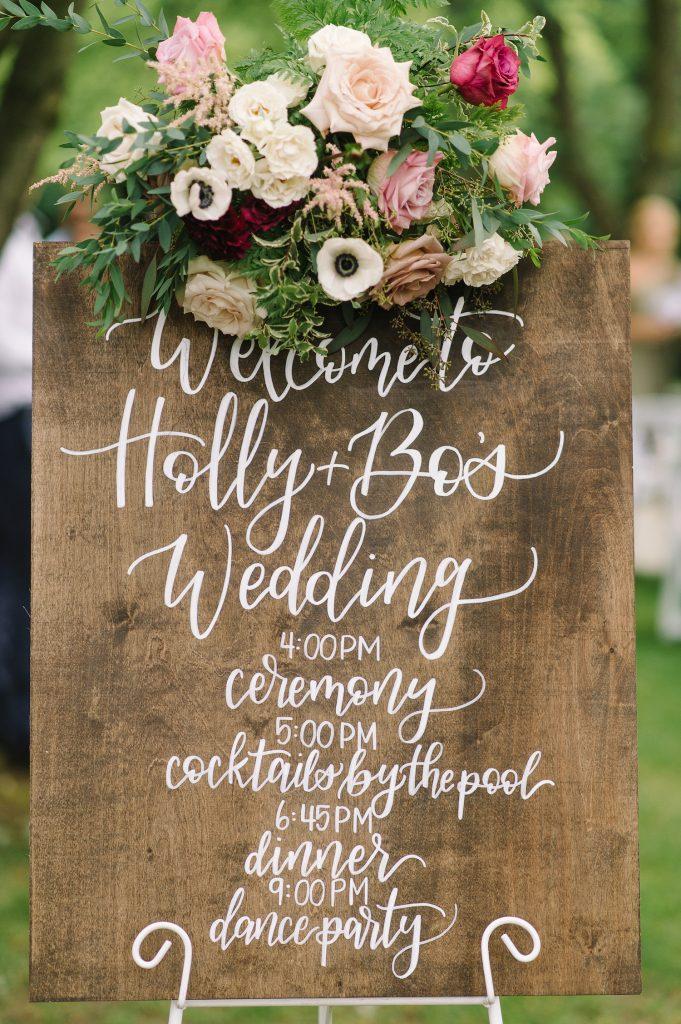 wedding sign bo horvat